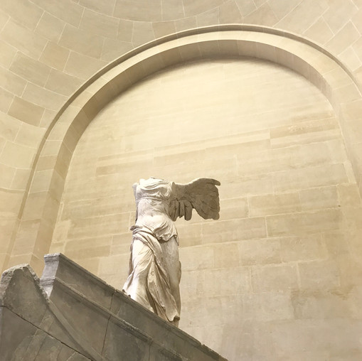 Winged Victory of Samothrace--my favorite piece in the whole museum.