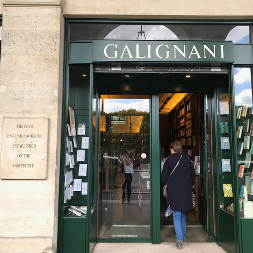 The first English bookshop established on the continent! We accidentally ran into this one!