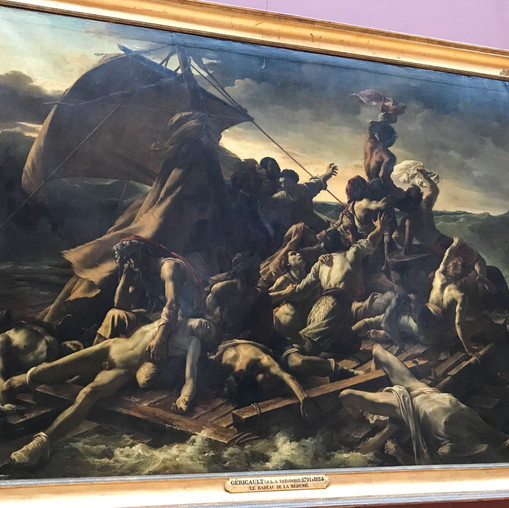 The Raft of the Medusa--my favorite painting. It made me cry.