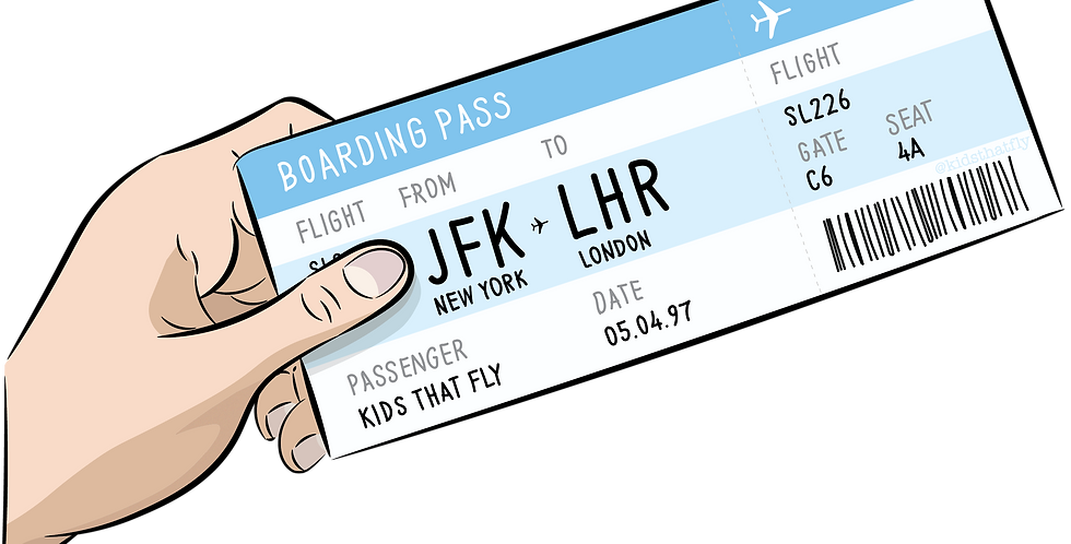 Boarding Pass Sticker