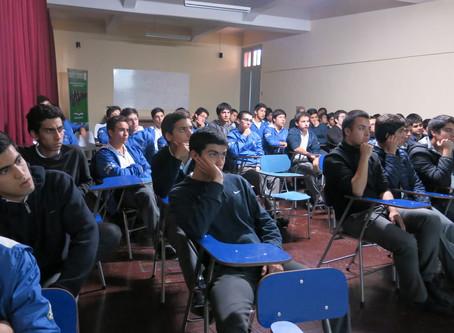 """""""Motivación y Actitud"""", charla a alumnos de 4° Medio Colegio El Salvador"""