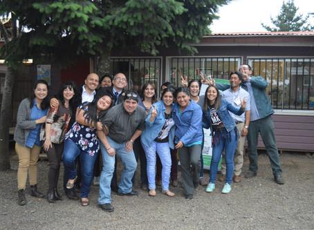 Taller de liderazgo, comunicación y trabajo en equipo en La Araucanía