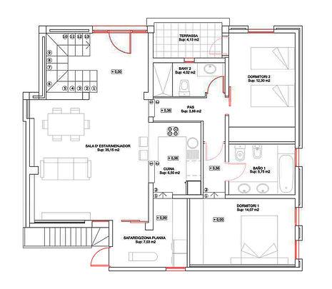 Casa con iluminación natural, reforma de cocina. Ampliación casa y mejora energética.