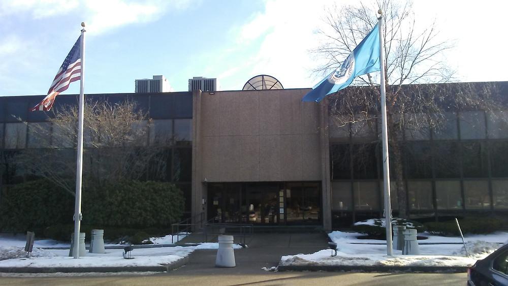 The federal building in Burlington, MA.