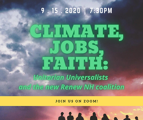2020.9.15 Climate jobs Faith Renew NH an