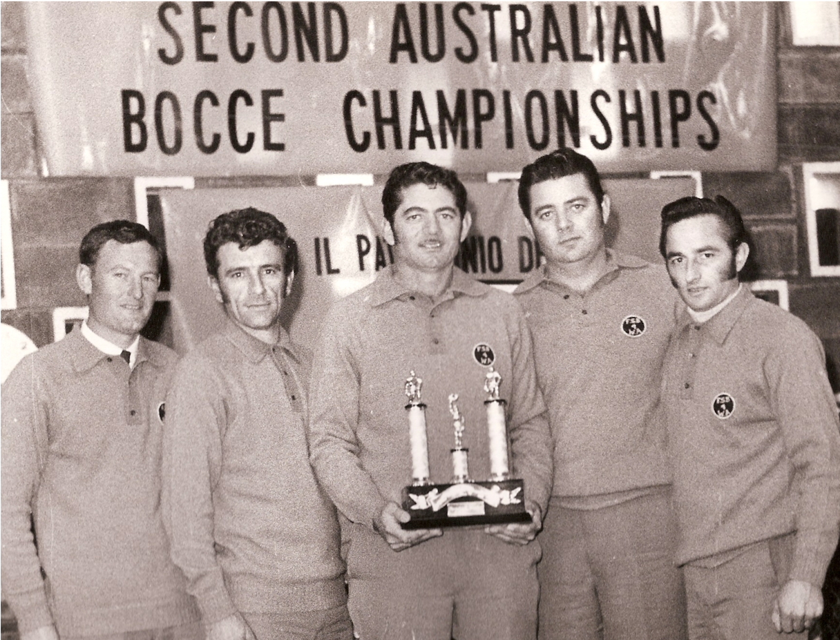 The First Western Australian Bocce Team in 1971