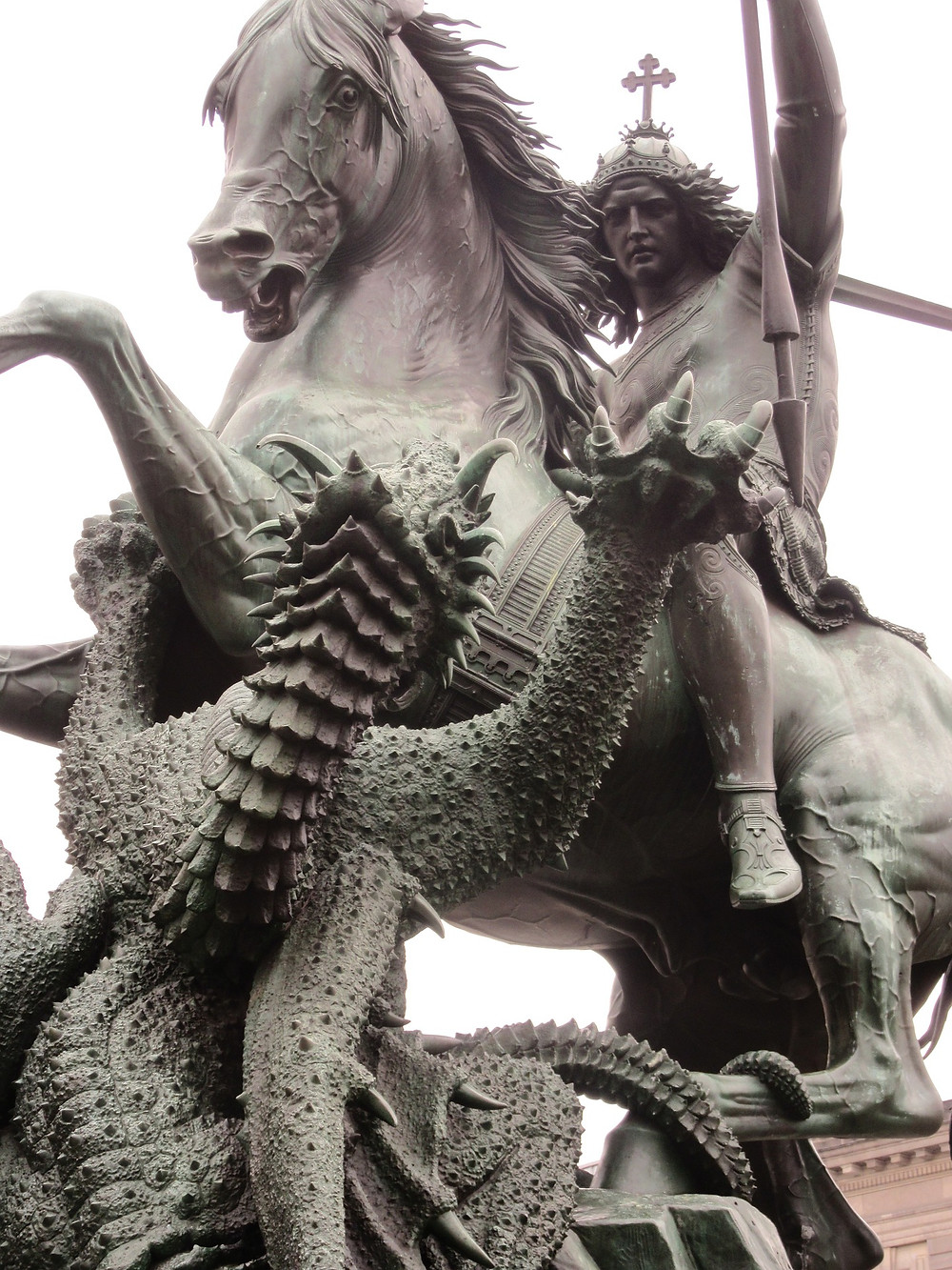 A statue of St. George in Berlin, Germany