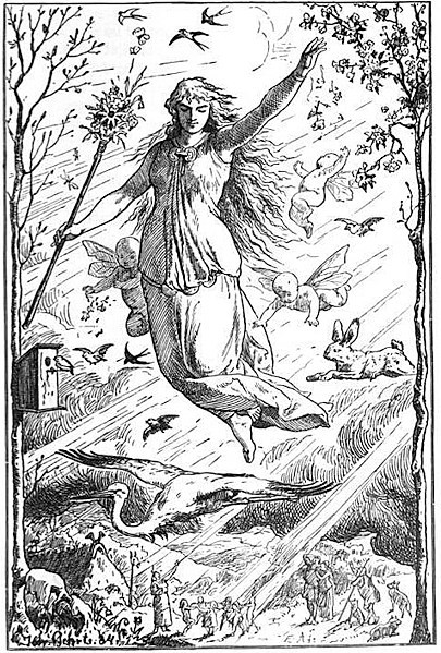 A depiction of the Goddess Eostre