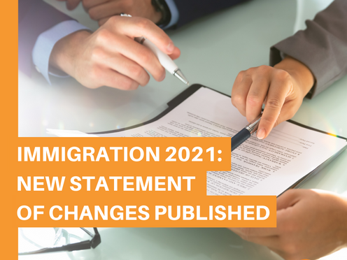 Immigration 2021: New Statement of Changes Published