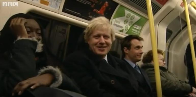 Boris Johnson on Tube