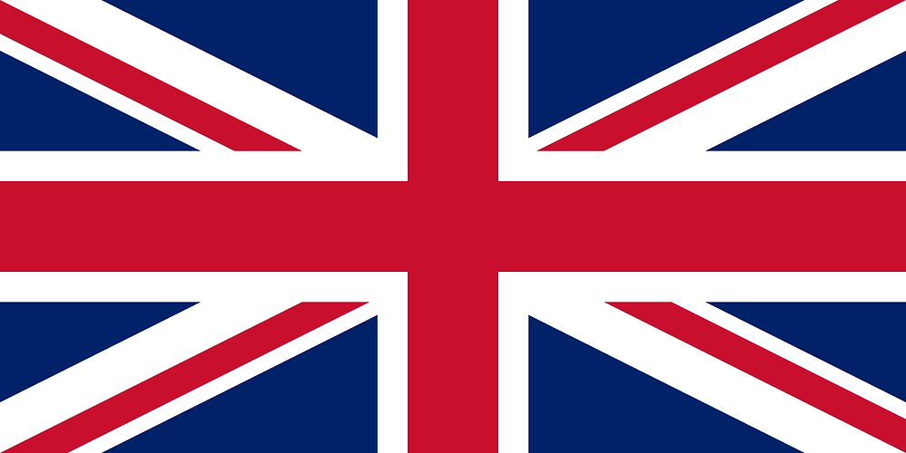 The Union flag (or 'Union Jack'), comprising of the St. George's cross, the St Andrew's saltire and the St. Patrick's saltire