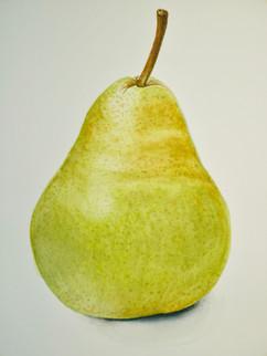 Green Pear - Watercolor