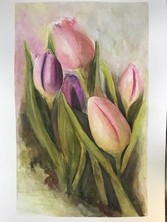 Tulips - Watercolor