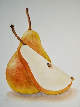 Yellow Pear - Watercolor