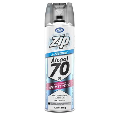 Álcool Aerosol Zipclean 70º 300ml