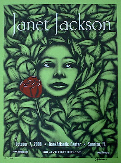 Janet Jackson - Screen Print