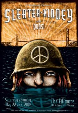 Sleater-Kinney Fillmore Poster
