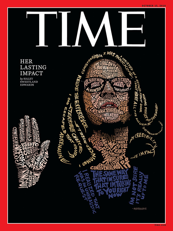 The TIME magazine Cover:  Dr. Christine Blasey Ford