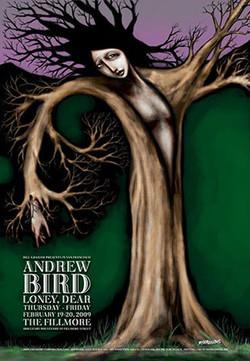 Andrew Bird Fillmore Poster