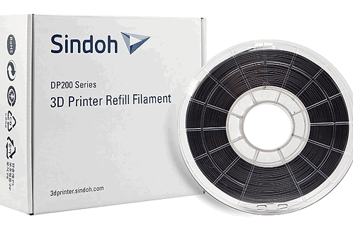 Sindoh 3DWOX Refill Filament PLA black (Compatible with DP200, DP201, 3DWOX 1, 1