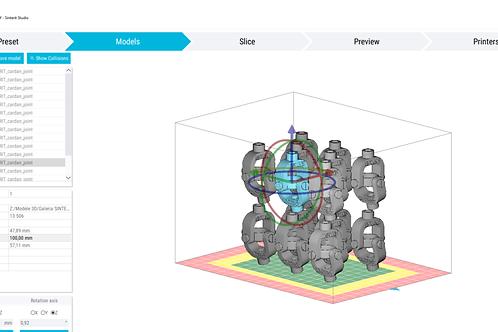 Sinterit Studio Software Screen View