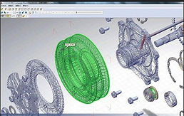 CAD drawing of 3D scanned parts