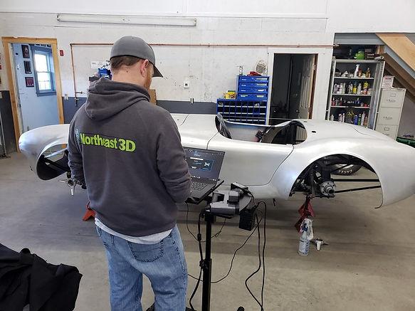 Northeast 3D scanning a car