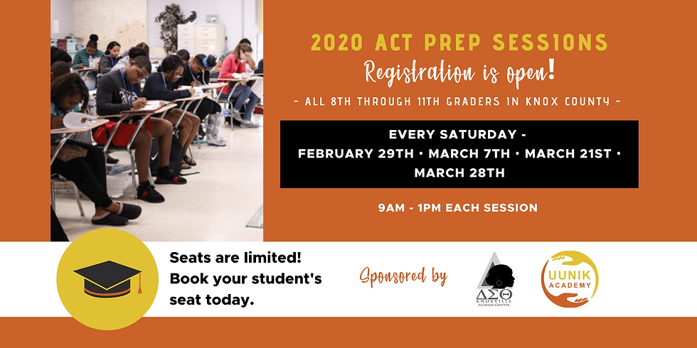 2020 Spring ACT Prep Sessions