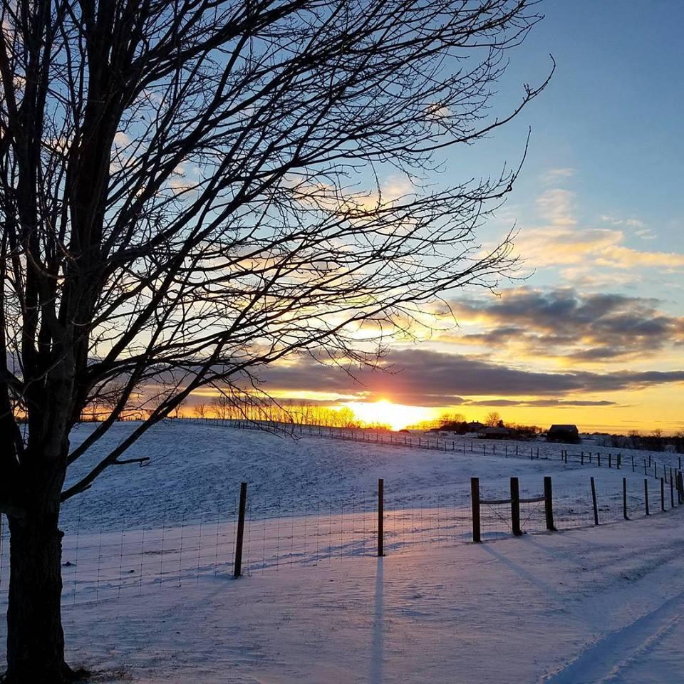Snowsunset