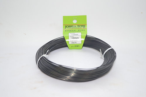 Japanese bonsai training wire 1.0mm ( black ) 232 ft. long