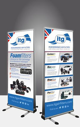 Pull up banners avalible at Proteus Prin