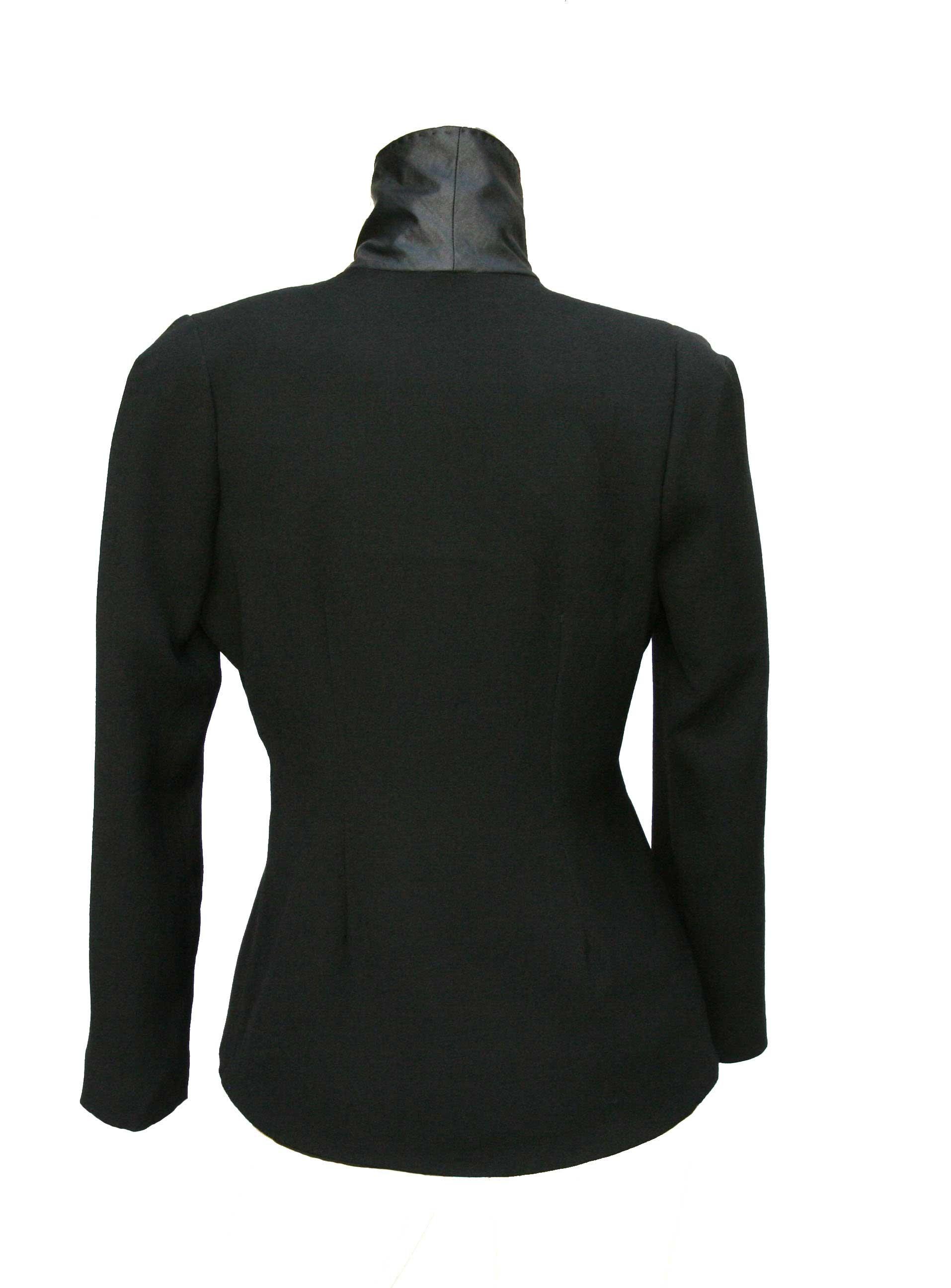 veste smoking dos coupe ajustée