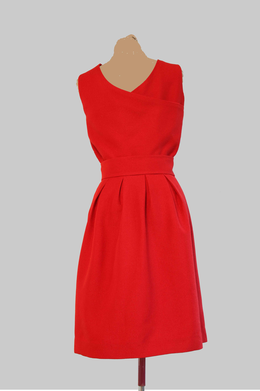 Robe Vice Versa en jacquard rouge