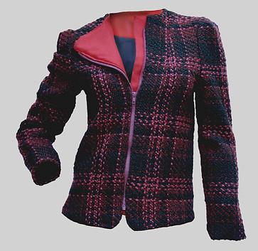 veste en tweed façon perfecto doublure