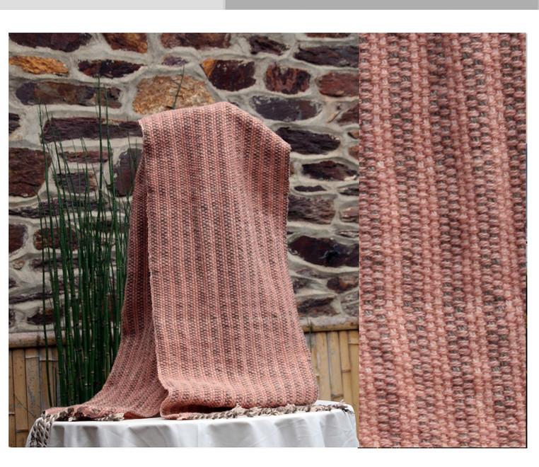 écharpe point natté tissage artisanal pu