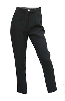 pantalon pure  laine raccourci , doublé