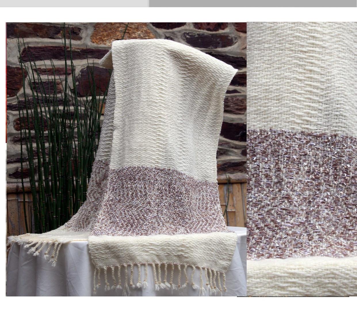 écharpe laine naturelle et fantaisie bri