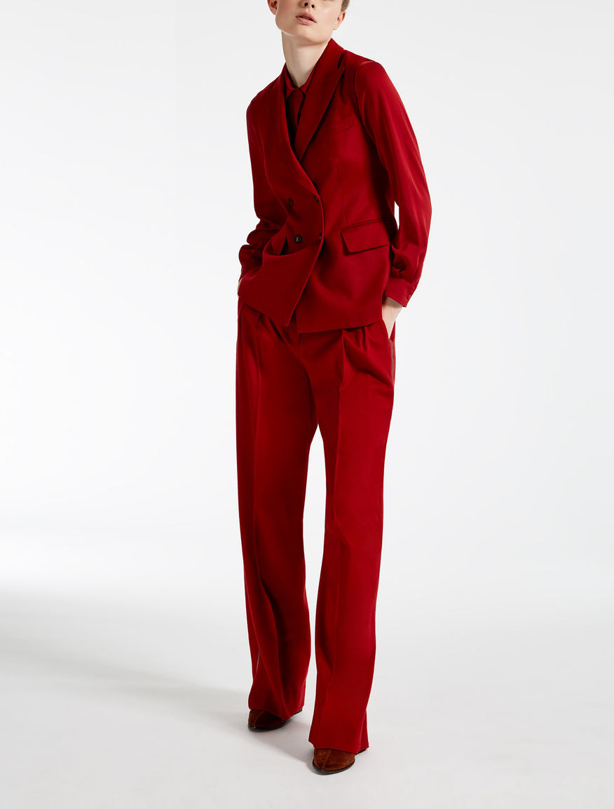 tailleur  Max Mara rouge