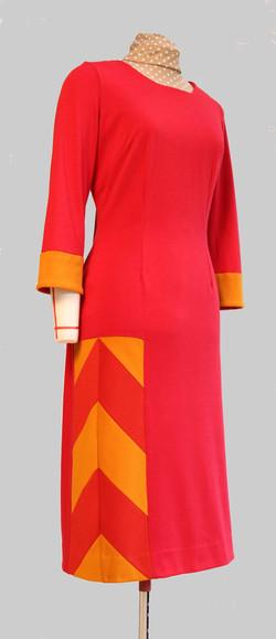 Robe en jersey  Ponté rouge épicé
