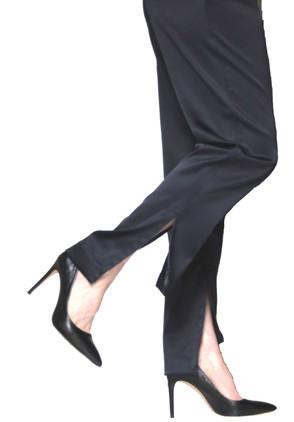 pantalon droit, cheville légère