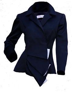 Veste Vagues tailleur bleu nuit
