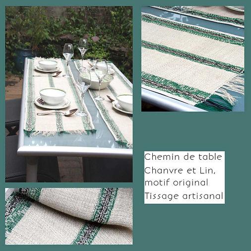 KinnoTé_chemin-de-table en chanvre et original, doux et resistant à la fois, a assortir  à l'ambiance , légr et  facile à entretenir