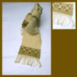 Echarpe laines bretonnes tissage artisanal, pure  laine, de couleurs douces, point particulièrement moelleux