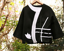 Veste Kimono néoprène tendance graphique