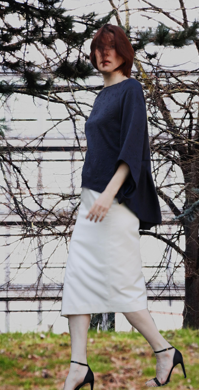 jupe droite et  tunique néoprène