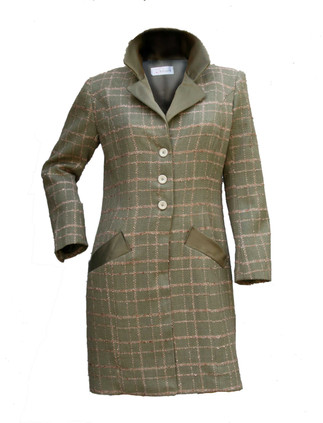 manteau masculin féminin à carreaux en l