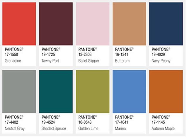la gamme des couleurs  2017 2018