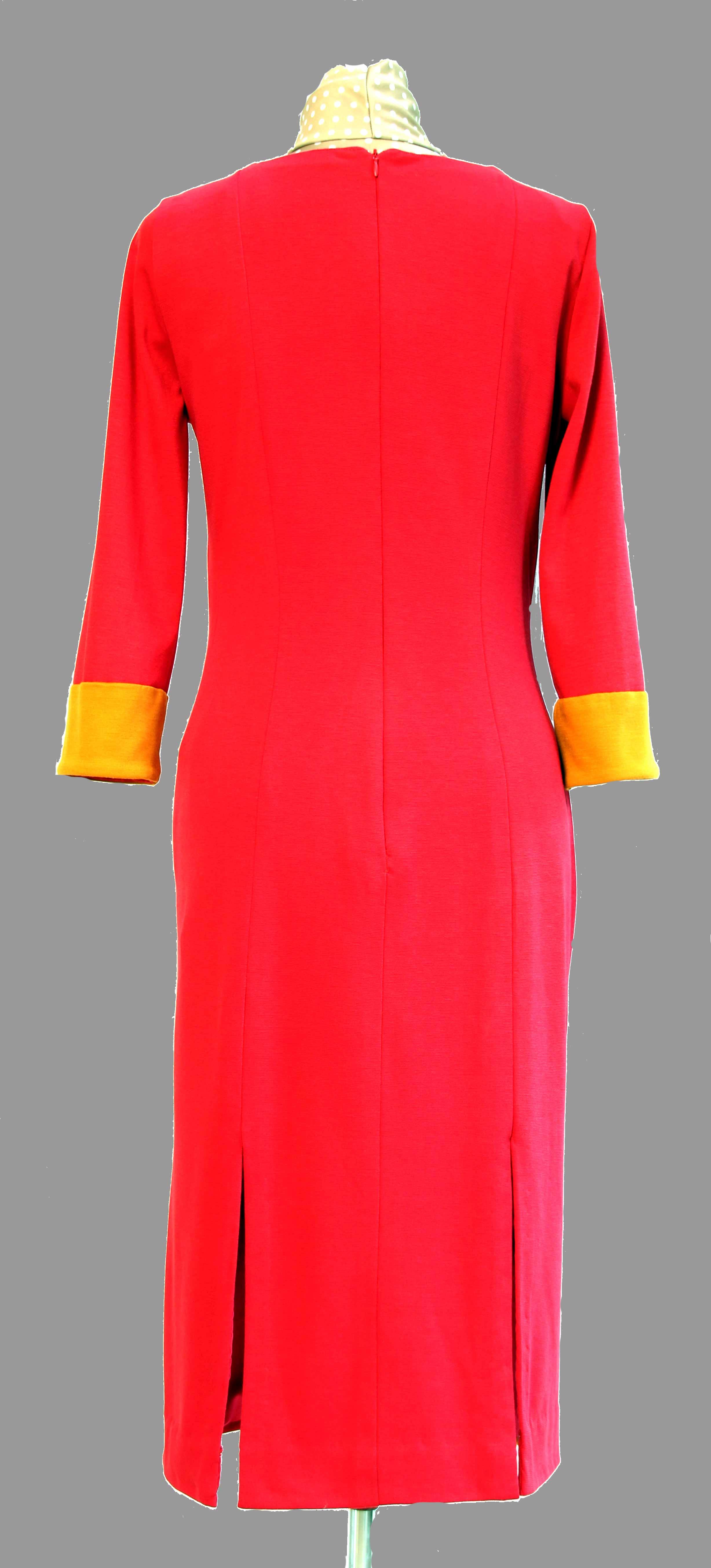 robe en jersey  Ponté  de dos