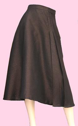 jupe midi taille haute