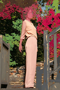 pantalon large arty nude